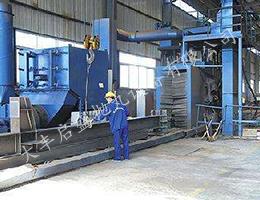 型钢通过抛丸机工程案例